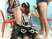 Three poles attack Miku Airi hell working mouth hole