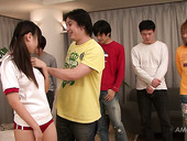Group sex with super sexy and kinky Ryo Asaka in her bedroom