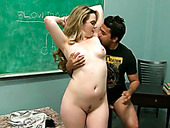 Bootyful teacher gives her student one hell of a blowjob