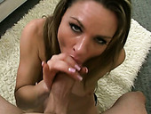 Cock craving lady Amanda Blow takes fat dick up her throat balls deep