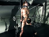 Naughty slut Alexis Crystal gets punished hard by horny bondage master