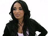 Seductive and well shaped brunette Anissa Kate looks smoking hot