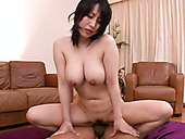 Busty Japanese whore Yuuna Hoshisaki is banged doggy style