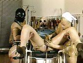 Two busty laboratory assistants knows for sure how to make him cum