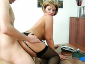 Nasty cougar Stella Styles is fucked bad doggy style
