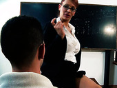Voluptuous cougar Stella Styles fucks her student instead of teaching