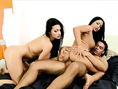 Buxom sexpot Aletta Ocean takes part in FFM threesome