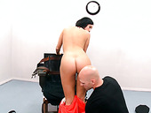 Busty brunette filth Dylan Ryder blows hard cock of Johnny Sins