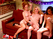 A dirty lesbian orgy on a birthday party with Capri Anderson, Heather Carolin, Jana Jordan and Jayme Langford