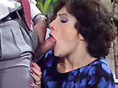 Horny office whore in black stockings gets fucked doggy style