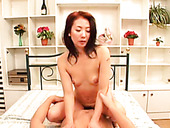 Slutty Asian bitch blows tiny penis of ugly old stud