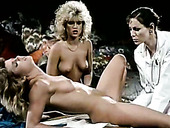 Kinky gyno doctor examines sweet pussies of two lusty lesbian girlfriends