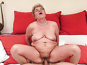 Cock loving granny gives her lover one hell of a blowjob