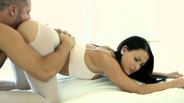 Licking Pussy Through Yoga Pants