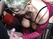 Horny mature hoes enjoy nasty orgy copulation with thirsting freaks
