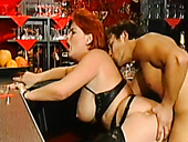 Stacked and wanton red haired MILF got doggy attacked hard