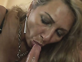 Feverish dude has awesome oral sex with busty light haired MILF