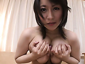 Busty Japanese hottie pleases her kinky hubby with stout boob fuck