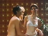 Slutty short haired bride gives steamy deep throat to her hubby