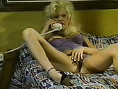 Amazing vintage blondie with big breast gives head and gets poked mish