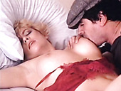 Chubby pale blonde housewife gets her wet cunt fucked on the wide bed