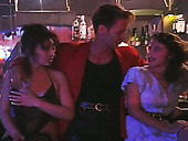 Young porn actor Rocco Siffredi visiting strip bar in Prague
