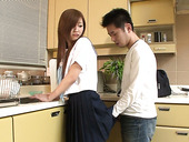 Horny housewife Suzuka Ishikawa feeds her husband with raw egg for breakfast