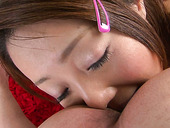 Japanese teen You Shiraishi enjoys licking Asian anal hole and nuts