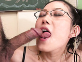 Two freaks attacked leggy Asian hoe in red stockings hard