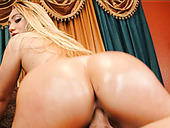 Big bottomed mesmerizing AJ Applegate jumps on stiff cock of Bill Bailey