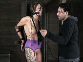 Full natual juggy chick gets her pussy punished in bdsm sex clip
