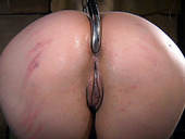 Pink haired emo whore is punished hard in bdsm room