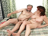 Old couple is having crazy sex early in the morning