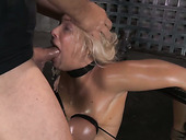 Wanton blond MILF got her boobies bound rough by freaky dude