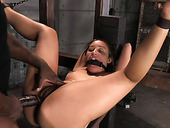 Gagged and bound exotic hottie Tinslee Reagan had hard BDSM 3 some