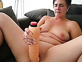 Horny mature whore used giant fake cock for self satisfaction