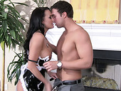 Insatiable housemaid Alektra Blue gets bones by her master
