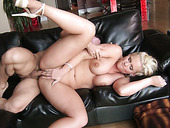 Dumpy blond hoe Phoenix Marie got her anus polished in sideways pose