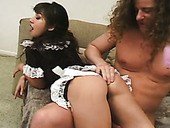 Sexy maid in uniform Roxy Jezel gets fucked by horny master