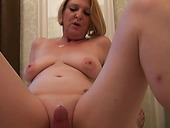 Insatiable milf with massive boobs fucks her wet slit with favorite sex toy