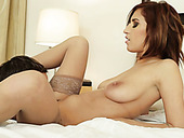 Torrid wifie with saggy tits fucks handsome hubby in the bedroom