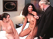 Classy chicks Cher and Jamie get their pussies toyed like never before