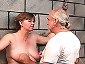 Fat slut is punished and spanked by old pervert