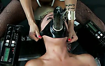 Sex-crazy mistress enjoys riding face strapon