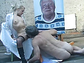 This old perverted dude really knows how to eat pussy