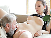 Beautiful Ilona gets her pussy pounded bad in arousing young and old fuck video