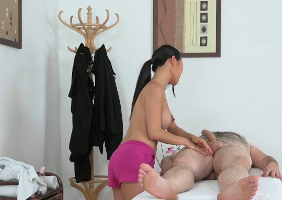 Asian masseuse rides and grinds on the dick real hard 9