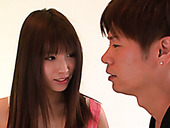 Brown haired Hinata Tachibana's asian blow jobs gets her a creampie