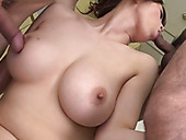 Two kinky neighbors polish and rim Maki Koizumi's anal hole and she gives her head  q