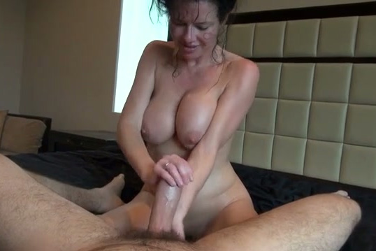 filthy nympho with saggy tits rides and jerks off strong